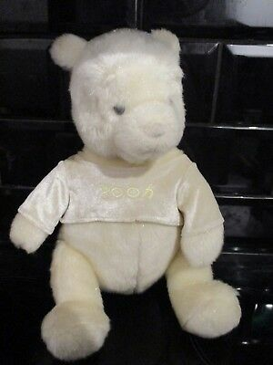 Disney Store The Pooh White Sparkly Medium Soft Plush Toy Very Rare Brand New