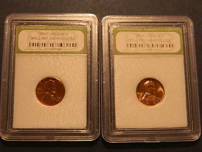 1959 1C RD Lincoln Cent Brillant Uncirculated ( 2 ) TWO Slabbed