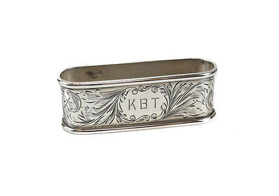 J.F. Fradley & Co. Sterling Silver Napkin Ring Engraved #1912, c1920