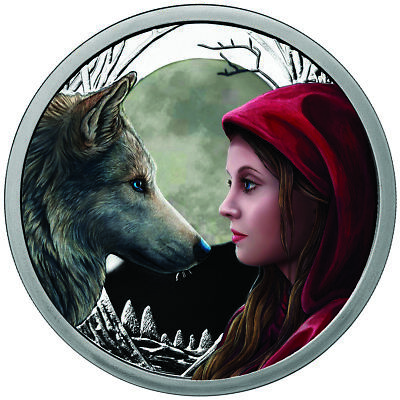 1 Oz Silver Coin Lisa Parker Collection Moonstruck Colorized # Coa 750 Minted