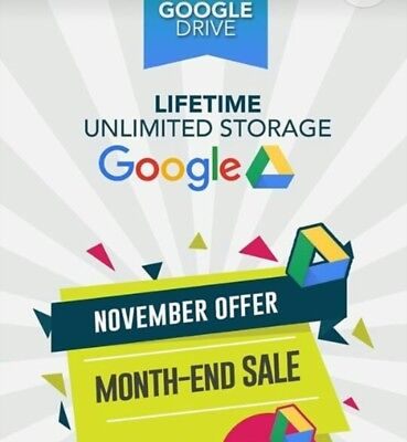 Unlimited google drive on your existing accounts for life time -RESELL- 🔥🔥