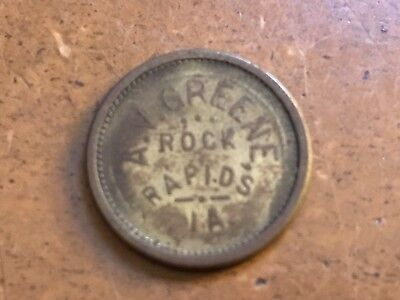 Rock Rapids Iowa A.V. Green good for 5c in trade token