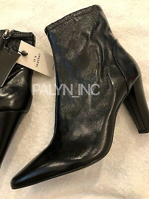 38f3d0ca114b4 NWT ZARA WOMAN HIGH HEEl POINTED LEATHER ANKLE BOOTS REF. 6050 201 EUR40 US9