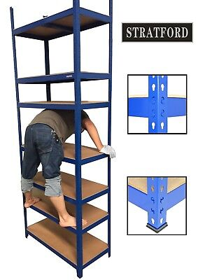 Pack of 3 STRATFORD™ 250cm Tall 7 Shelves Metal Shelving Racking Storage Unit