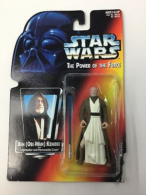 Star Wars Potf Red Orange Full Body Card Obi Wan Ben Kenobi Long Saber Figure