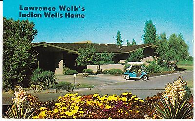 """Lawrence Welk's Indian Wells Country Club Home"" Golf Cart Postcard California"