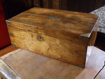 Antique Oak Writing Slope With Full Size Drawer Lovely Colour