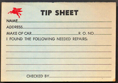 Mobil Oil Pegasus Flying Horse Service Station Repair Tip Sheets x 5 Circa 1940