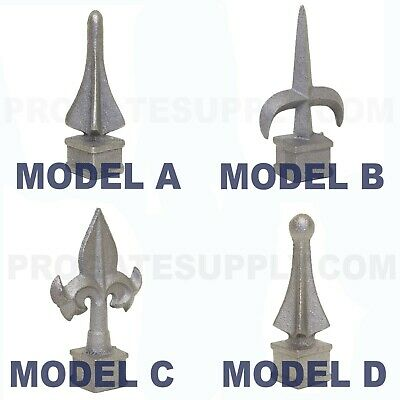 "3/4"" Cast Iron Spear, Finial, Spire, Ornamental Fence Topper Wrought Iron"