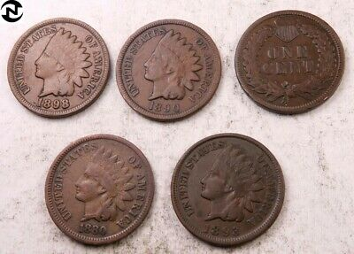 (1) 1800's Indian Head Penny // VG-Fine+ // 1859-1899 // 1 Coin