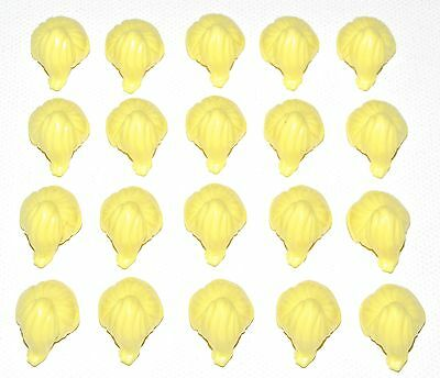 LEGO LOT OF 20 NEW LIGHT BLUISH GREY MINIFIGURE HAIR PIECES WIGS SIDE PART