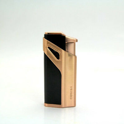 COHIBA Golden Focusing 3 Torch Jet Blue Flame Cigar Cigarette Lighter With Punch