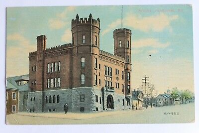 Old postcard ARMORY, PAWTUCKET, R.I., 1913