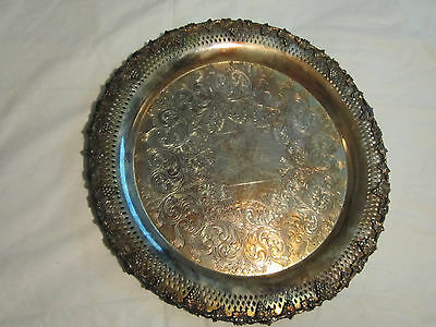 antique majestic old english reprodaction sp copper B M MTS  silver plate tray