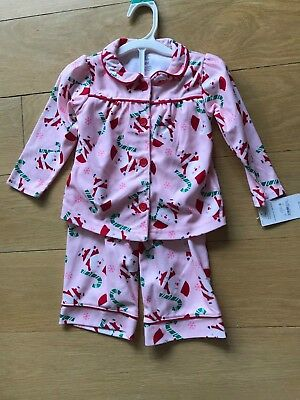 afd0ef5b39ee CARTER S JUST ONE You Toddler Girl Pink Christmas Santa Claus ...