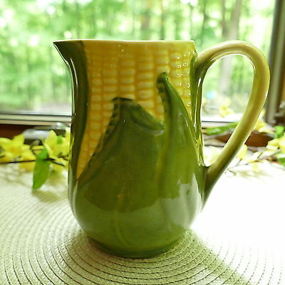 1940s Shawnee Pottery CORN KING #70 Creamer Small Syrup Pitcher Yellow & Green