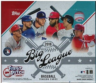 2018 Topps Big League Baseball Hobby Box (10 Cards Per Pack, 24 Packs) Live!