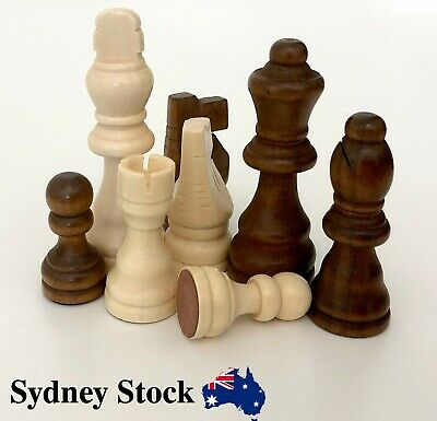 AMBRIZZOLA Francese Handcrafted Wooden Chess Pieces 76mm