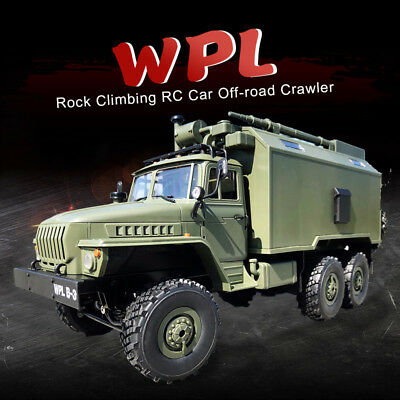 WPL 1/16 Scale 6WD Drive Rock Crawler Off-road Remote Control RC Car Truck RTR