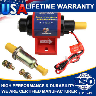 Universal Electric Fuel Pump Carburetor 12V Applications 35 GPH Gasoline 4-7 PSI