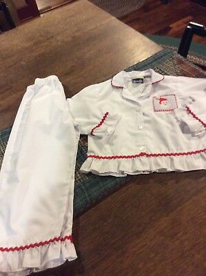 b861b0fbb1 Southern Tots Toddler Girls Smocked Cotton Christmas Pajamas...size 3-T