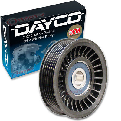 Dayco Drive Belt Idler Pulley for 2007-2008 Kia Optima 2.4L L4 - Tensioner mo