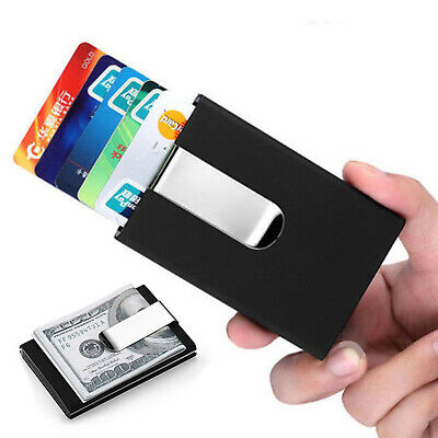 Minimalist Wallet Pop Up Credit Card Holder ID RFID Blocking Anti-theft Slim New