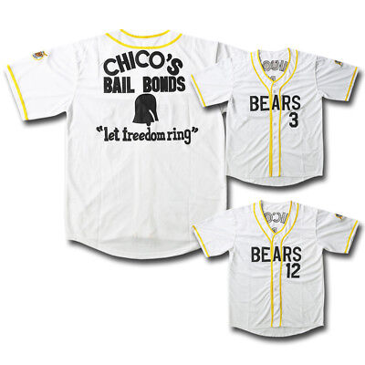 45b0439388c Bad News Bears #12 Tanner Boyle #3 Kelly Leak Baseball Jersey White All Sewn