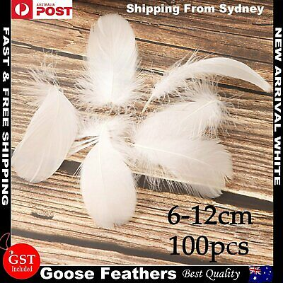 100x White Goose Feather DIY Craft Dream Catcher Wedding Party Cake Decor 8-12cm