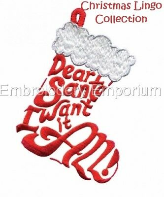 Christmas Lingo Collection - Machine Embroidery Designs On Cd