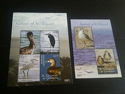 Stvincent 2009 Sg Ms5798-5799 Water Birds Mnh (B)