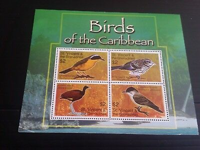 Stvincent 2007 Sg Ms5634 Birds Of The Caribbean Mnh (B)
