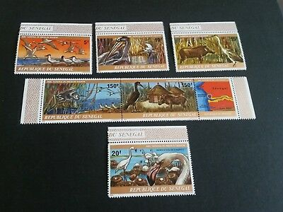Senegal 1978 Sg 658-663 Saloum Delta National Park Mnh (E)