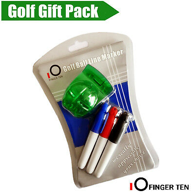 Golf Ball Line Liner Marker Template Drawing Alignment Sign Tool  with 3 Pens AU