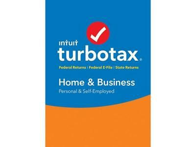 Intuit TurboTax Home & Business 2018, Federal with State + Efile for Windows/MAC