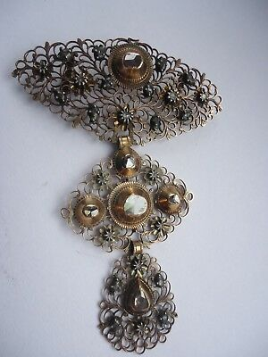 Antique 18th Century 18ct Gold Diamond HUGE French Pendant-perfect 14grms