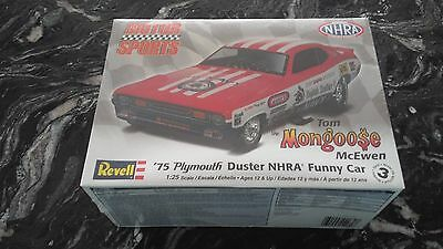 Revell 1/25 Tom Mongoose Mcewen 1975 Plymouth Duster Nrha Funny Car # 85-4289 Fs