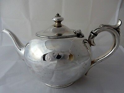 Antique Silver Plate Teapot c1850 William Hutton & Son Sheffield -  Stylish