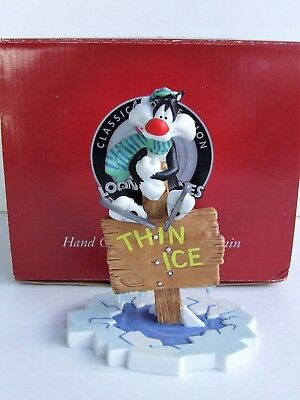 Goebel Classic Collection Looney Tunes 471021 Thin Ice Sylvester Figurine NEW