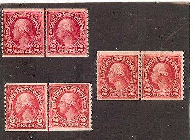 Lot of three:#599 2 cent Washington All MNH Coil JLP. SCV=$13.50 NICE!