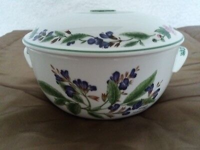 "Royal Worcester ""worcester Herbs Black Mustard/sage"" Lidded Vegetable Casserole"