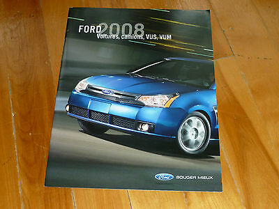 Ford 2008 Full Line Catalog Brochure Ad Annonce French Original Dealer Sales