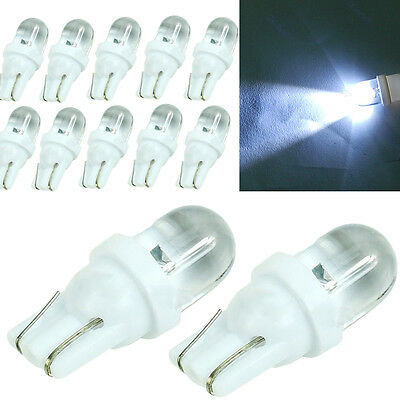 10pcs T10 194 W5W Top Round LED White Park Position Light Wedge Bulb 12V DC Hot