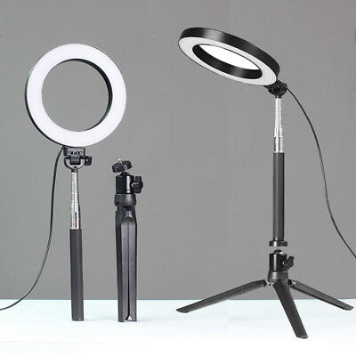 LED Ring Lights with Stands 5500K Dimmable Lighting Kit For Makeup Phones Camera
