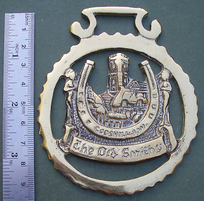 Cast Horse Brass: Godshill Isle of Wight, The Old Smithy, Free P&P