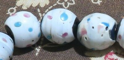 12 Antike Glasperlen Venedig - Colorful Antique Venetian Eye Beads