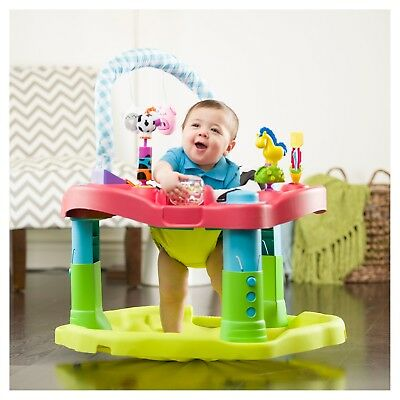 d8ef31a34 EVENFLO EXERSAUCER BOUNCING Barnyard Saucer Baby Walker Safe Play ...