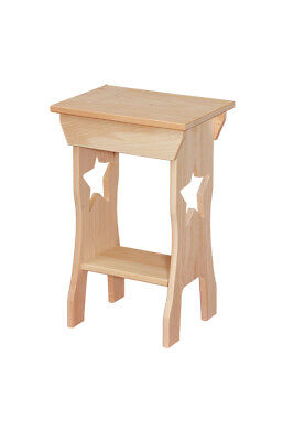 Primitive Farm Small Hunter Table SOLID PINE WOOD AMISH UNFINISHED RUSTIC