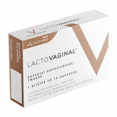 THRUSH INTIMATE INFECTIONS Lactovaginal TREATMENT PROBIOTIC 10 Tablets