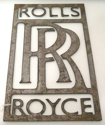 "Rolls-Royce Sign LARGE size, perfect also as a stencil 12"" 31cm tall. Metal. 798"